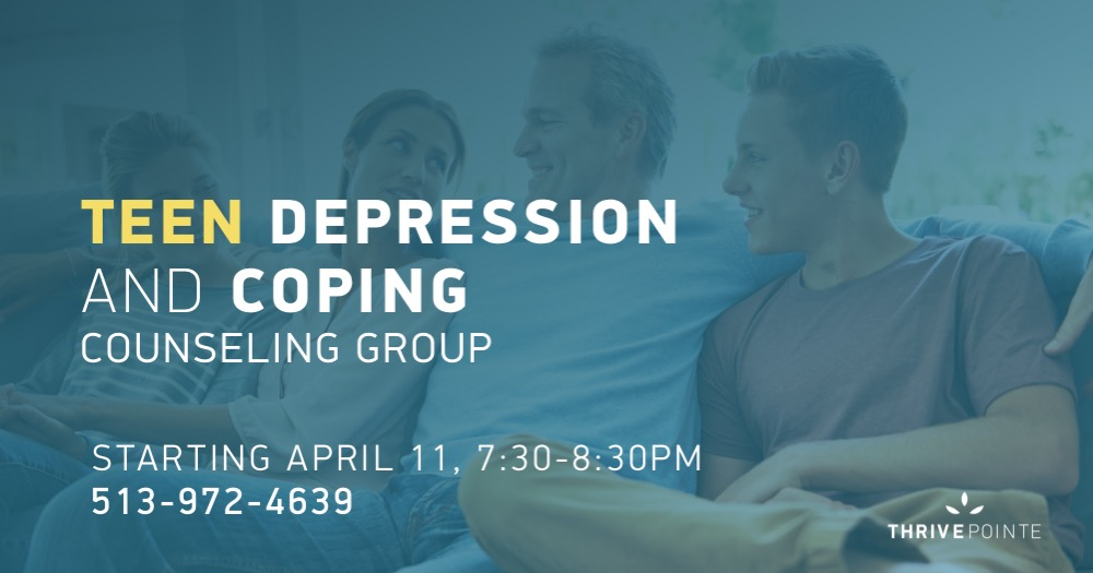 Teen Depression counseling group banner