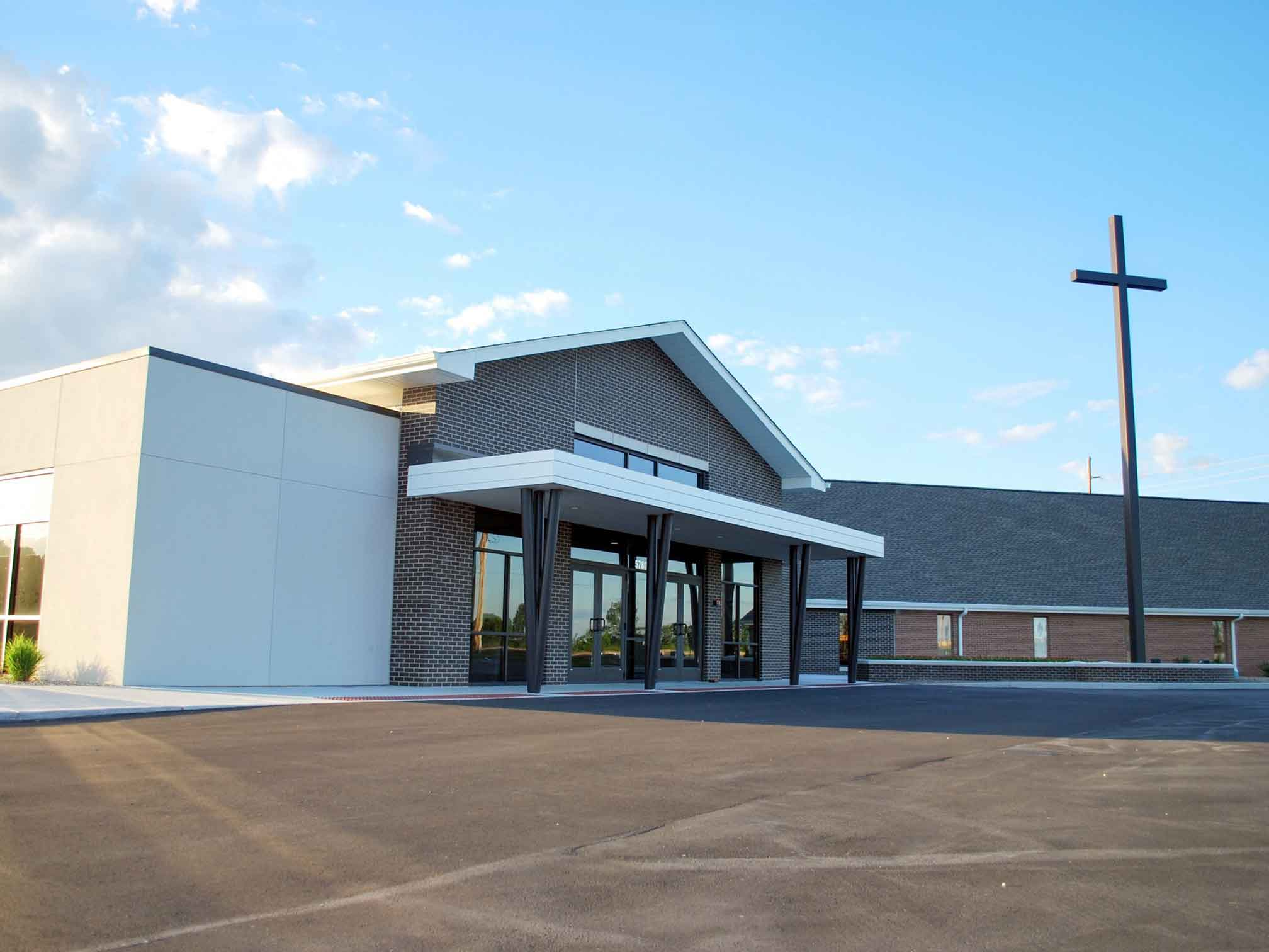 Outside of the offices for counseling with a ThrivePointe therapist at New Hope Christian Church. ThrivePointe Whitestown, IN 46075